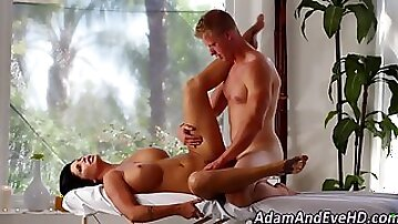 Busty milf gets pounded