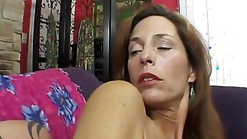 Milf with ugly tits gets her cunt and asshole fucked deep