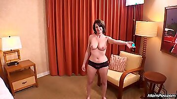 POV anal missionary & rough doggy style anal for big boobed milf