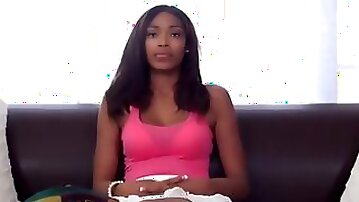 Vivica Johnson on the casting couch.