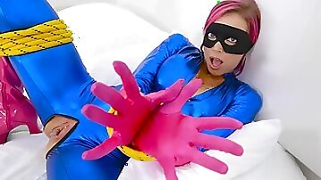 Kinky lady in latex outfit got nailed