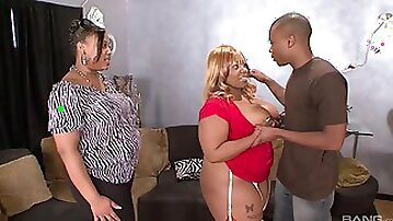 Insolent ebony with fat ass, crazy home BBW anal with the son