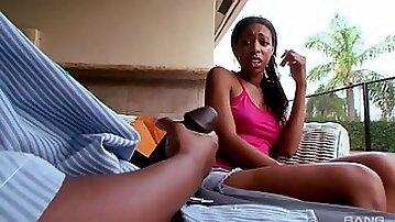 Handsome ebony model Lovely Haze gets fucked by Kytiana Kane