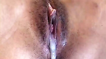 Large and long black cock reaming her tight pussy