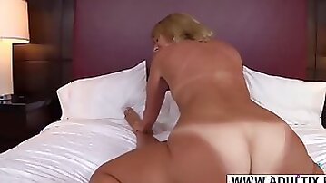 Horny StepMother Daisey Ride cock Hot Touching Friend