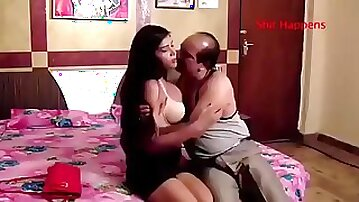 Indian old man vs young girl hot video indian girl