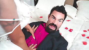 Crazy Hardcore Porn Scene Featuring Slutty BBW Bride