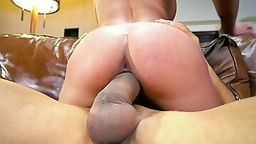 Anissa Kate rides the big fat dick in cowgirl position