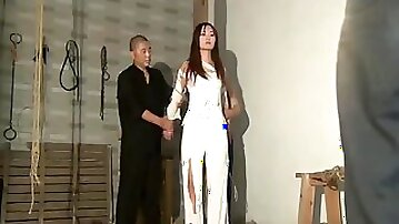 Cute Chinese girl in prison