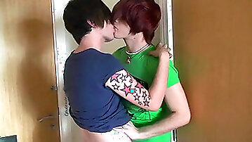 Sexy redhead Deano Star sucking cock of Lucas Price