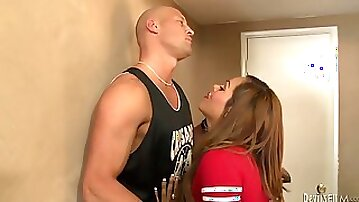 Rough sex with the hot shemale Jenna Belle