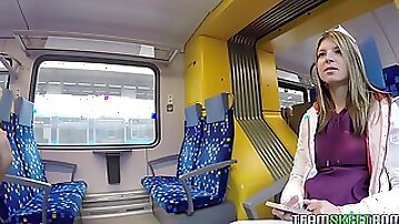 Petite Russian Spinner Has A Train Toilet Casual Sex