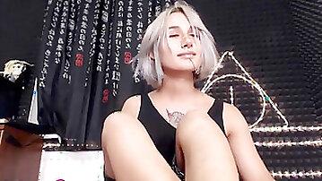 Stunning Russian she-creature Jean Grey jerk her shaft